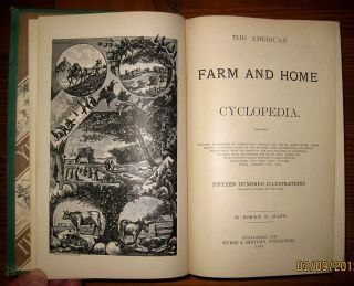 Antique Victorian Cookbook Farm Medical House Barn Architecture Bees Horse Tools