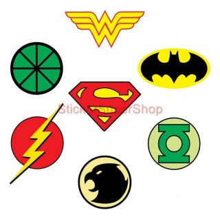 Justice League Logos Decal Removable Wall Sticker Home Decor Art Superman Batman