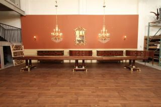 10 to 22 Foot Extra Large Mahogany Dining Table Long Banquet Table