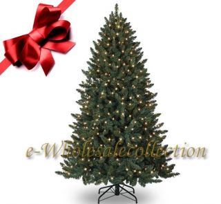 10' Pre Lit Clear Artificial Spruce Christmas Tree 10ft