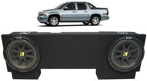 "Custom Chevy Avalanche 02 13 Dual 12"" Sub Box Kicker C12 Subwoofer Package"