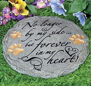 New Pet Memorial Stepping Stone Garden Monument Cemetery Grave Dog Cat