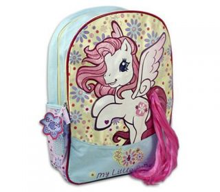 My Little Pony Girls Kids School Bag Backpack Brush
