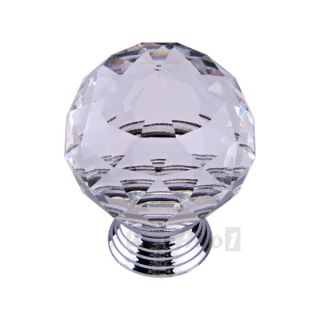 Clear Round Crystal Glass Cabinet Drawer Door Pull Knobs Handles 40mm