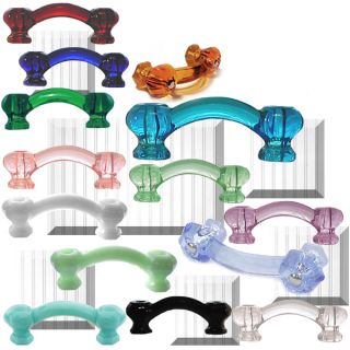 "Depression Glass Hardware Door Drawer Handle Pulls 3""CC"