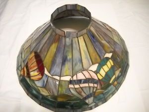 Hot Air Balloon Stained Glass Shade for Hanging Ceiling Light Fixture