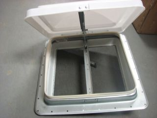 "14"" RV Trailer camper Vent Lid with Screen and Crank"