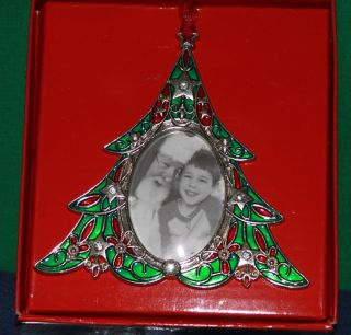 Christmas Tree Shaped Christmas Ornament Photo Frame Table Decor