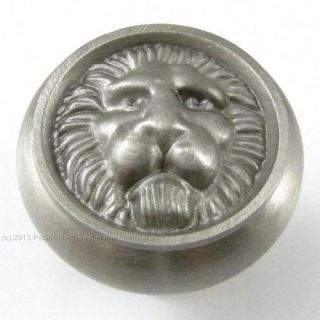 Belwith Hickory F402 Lion Face Solid Brass Cabinet Knob Brushed Satin Nickel