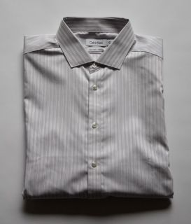Calvin Klein CK Men's Slim Fit Dress Shirt 17 32 33