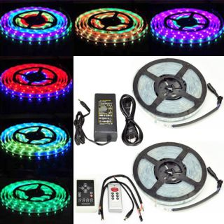 New Waterproof 5M 5050 300LED Strip Horse Race Dream Color RGB Controller Power