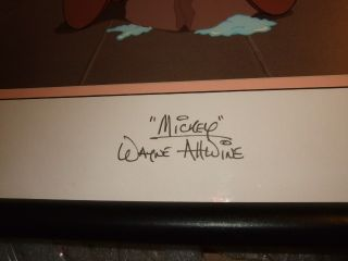 Happy Birthday Mickey Signed Voice Wayne Allwine Disney