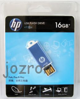 HP V135W 16GB 16g USB Flash Pen Drive Memory Stick Blue