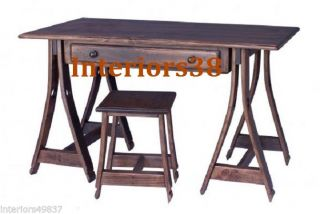 Wine Barrel Stave Wood Horse Napa Style Desk Bench Library Table Home Office