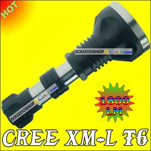 1800 Lumen CREE XM L T6 LED Flashlight Torch Lamp Light 1x 18650 XML