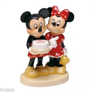 Disney Goebel Hummel Mickey Minnie Mouse Happy Birthday Walt Figurine 102932