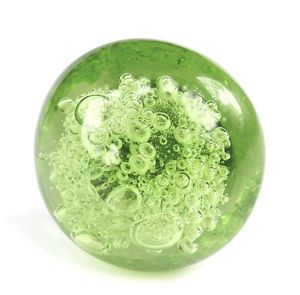4 Green Glass Bubble Knob Kitchen Cabinet Drawer Pull Furniture Handle K134CH
