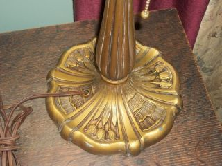 Antique Art Deco Nouveau Lamp Base for Slag Glass Shade