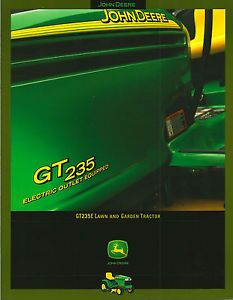 John Deere GT235E Electric Outlet Equipped Lawn and Garden Tractor Brochure
