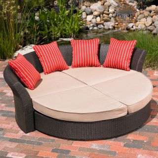 Mission Hills Corinth Daybed Indoor Outdoor Patio Lawn and Garden Furniture Set