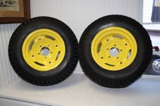 John Deere 210 Lawn Garden Tractor Wide Rear Wheel Rims and Tires 23x10 5x12