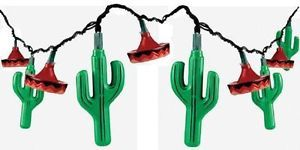 3 Sets Cactus Sombrero Summer Fun Indoor Outdoor Party String Lights Lighting