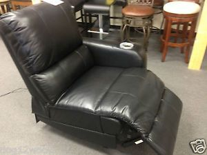 Home Theater Seat Power Recliner Black Leather