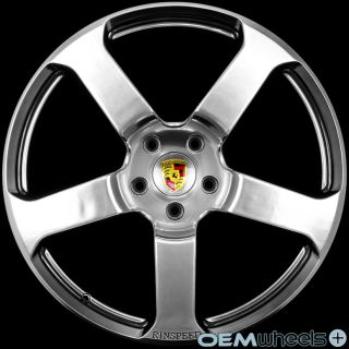 "22"" Hyper Black Wheels Fits Porsche Cayenne s GTS Turbo Audi Q7 VW Touareg Rims"