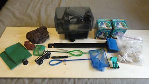 Aquarium Equipment Aqua Filter Box Filter Nets Scraper Bin Lava Rock