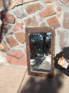 Vintage Old Wood Medicine Cabinet Mirror Bathroom