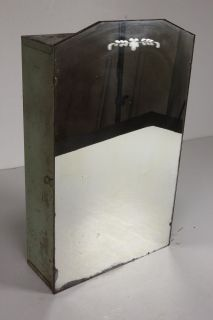 Vintage Metal Bathroom Medicine Cabinet Mirror Cupboard