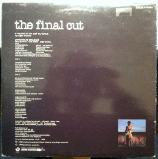 Pink Floyd Final Cut LP Vinyl France A1 B1 VG 1983