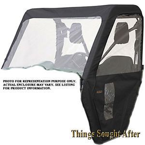 Cab Enclosure for Yamaha Rhino UTV Roll Cage Cover Windshield Top Door ATV Black