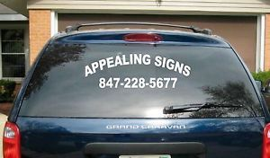 2 2 Line Back Custom Window Business Truck Car Vehicle Vinyl Lettering Decal