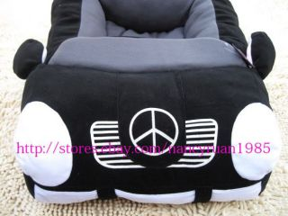 Popular Soft and Warm Pet Dog Cat Car Bed House Sofa Bed Tote Small Black Red