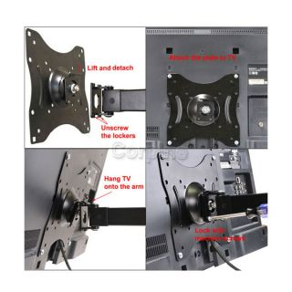 Full Motion Articulating Swivel LED LCD TV Wall Mount 22 24 28 30 32 36 37 42M16