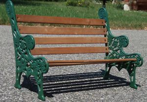 "Small Decorative Wrought Iron Wood Indoor Outdoor Bench 16""L x11""T x8""D Garden"