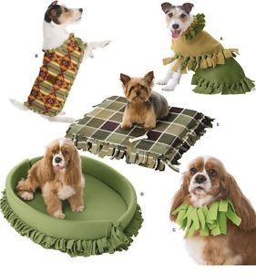 "Simplicity ""No Sew"" Pattern 3960 RARE Pet Dog Beds Coats Collar Sizes s M L"