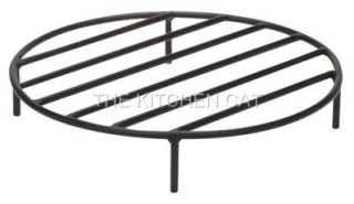 Round Steel Fire Pit Grate Outdoor Heavy Duty Metal Wood Heat for Camping Camp