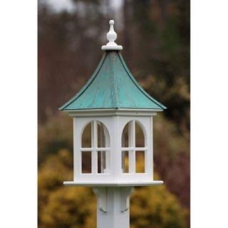 "Fancy Home Products Square Bird Feeder with Windows Patina Copper 12"" BF12 Sq PC"