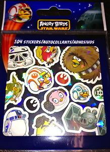 104 Angry Birds Star Wars Stickers Party Favors Teacher Supply Rewards