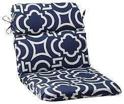 Pillow Perfect Indoor Outdoor Carmody Rounded Chair Cushion Navy 2 Cushions
