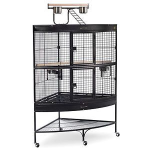 Prevue Pet Products Large Corner Bird Cage 3158BLK Prevue 3158CAGE for Parrot