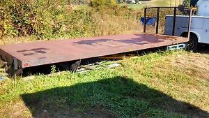 Flatbed for Truck 22 ft Long x 8 ft Wide Heavy Duty Steel Flat Bed w Cab Gaurd