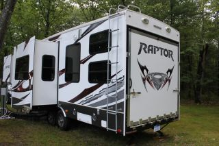 2012 Raptor 300MP 5th Wheel RV Toy Hauler by Keystone Generator Fuel Station