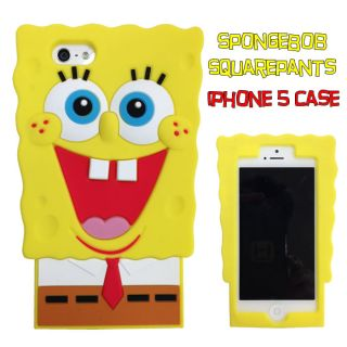 Spongebob Squarepants Silicone 3D Jacket Case Cover for IPHONE5