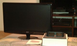 "Acer HS244HQ 23 6"" 3D LED LCD Monitor with Built in Speakers 0884483649211"