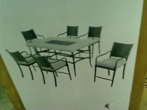 Hampton Bay Madison Patio High Dining Set with Cushions $999 00