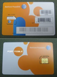 New at T ATT 4G 3G Micro Sim Card Go Phone Prepaid SKU 72290