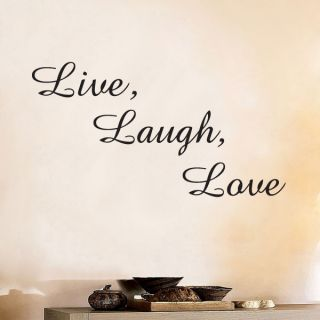 Live Laugh Love Modern Inspirational Quote Vinyl Wall Decor Window Decal Sticker